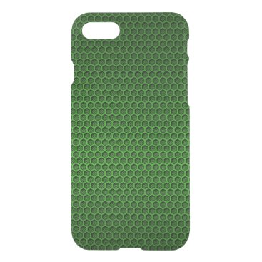 Aztec Themed Metallic Neon Green Graphite Honeycomb Carbon Fibe iPhone 7 Case