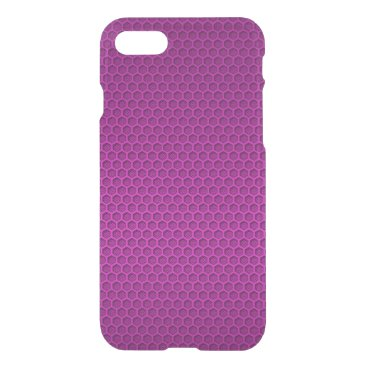 Beach Themed Metallic Neon Pink Graphite Honeycomb Carbon Fiber iPhone 7 Case