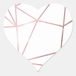 Metallic nodes heart sticker