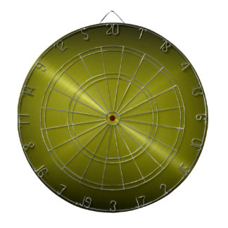 Metallic Olive Green Stainless Steel Metal Look Dartboard