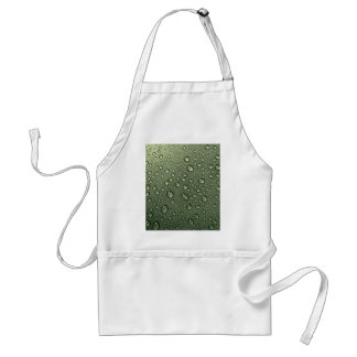metallic olive green with water droplets adult apron