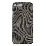Metallic Ooze - Cool Liquid Metal Look Pattern Barely There iPhone 6 Case