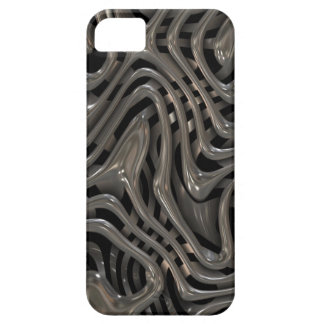 Metallic Ooze - Cool Liquid Metal Look Pattern iPhone SE/5/5s Case