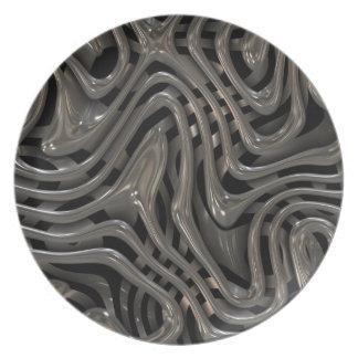 Metallic Ooze - Cool Liquid Metal Look Pattern Plate
