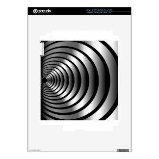 Metallic optical illusion decals for the iPad 2