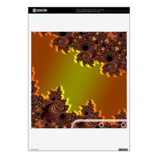 Metallic Orange Asymmetrical  Fractal Skins Skins For PS3 Slim