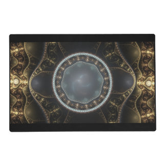 Metallic Ornate Steampunk Fractal Image Placemat