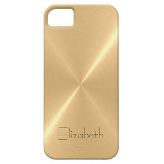 Metallic Pale Gold Stainless Steel Metal Look iPhone SE/5/5s Case