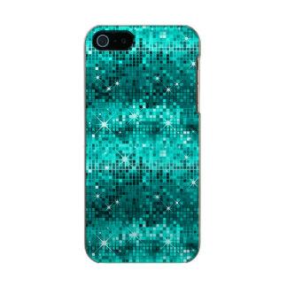 Metallic Peacock Green Sequins Look Disco Glitter Incipio Feather® Shine iPhone 5 Case
