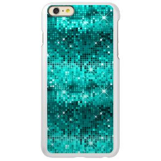 Metallic Peacock Green Sequins Look Disco Glitter Incipio Feather® Shine iPhone 6 Plus Case