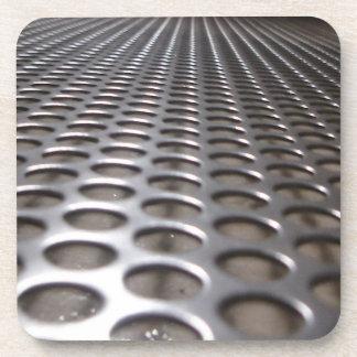 Metallic Perforated Steel Industrial Cork Coasters