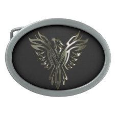 Metallic Phoenix Belt Buckle