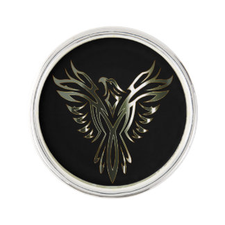 Metallic Phoenix Lapel Pin