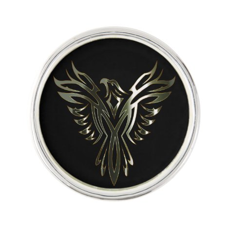 Metallic Phoenix Lapel Pin