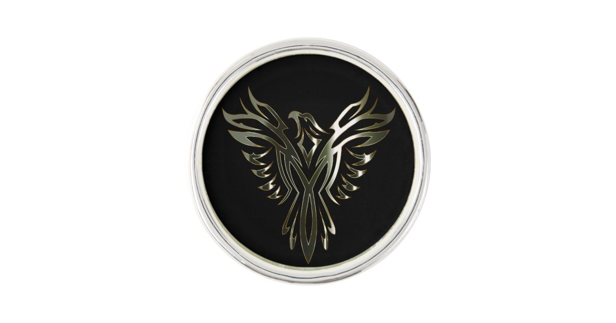 Metallic Phoenix Lapel Pin Zazzle Com