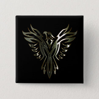 Metallic Phoenix Pinback Button
