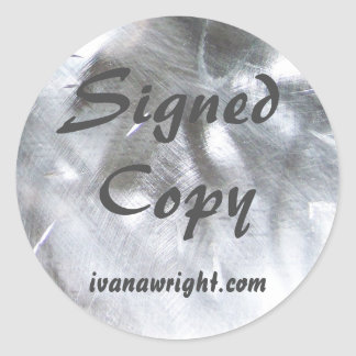 Metallic Photo and Gray Signed Copy Classic Round Sticker