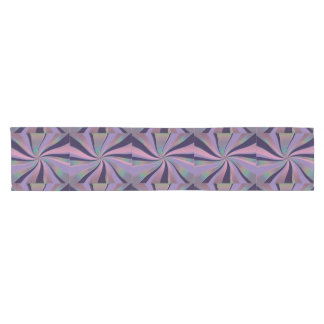 Metallic Pink Abstract Art Table Runner
