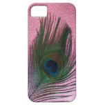 Metallic Pink Peacock Feather Still Life iPhone 5 Cover