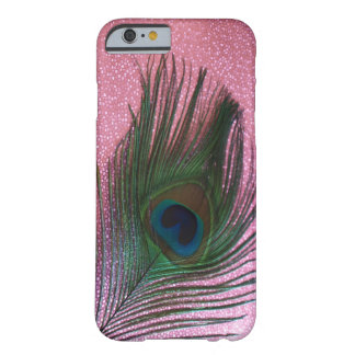 Metallic Pink Peacock Feather Still Life Barely There iPhone 6 Case