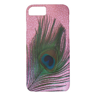 Metallic Pink Peacock Feather Still Life iPhone 7 Case