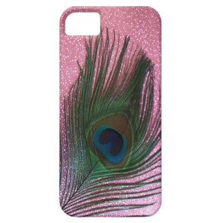 Metallic Pink Peacock Feather Still Life iPhone SE/5/5s Case