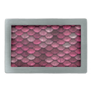 Metallic Pink Scales Print Rectangular Belt Buckle