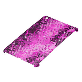 Metallic Pink Sequins Look Disco Mirrors Bling Case For The iPad Mini
