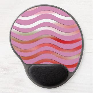 Metallic Pink Waves Gel Mousepad