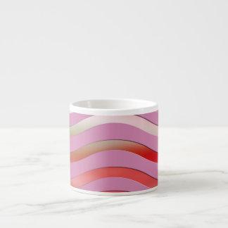 Metallic Pink Waves Espresso Mug