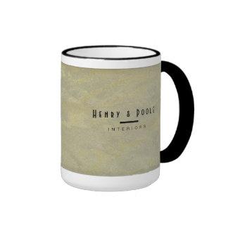 Metallic Plaster Interior Designer Branding Ringer Mug