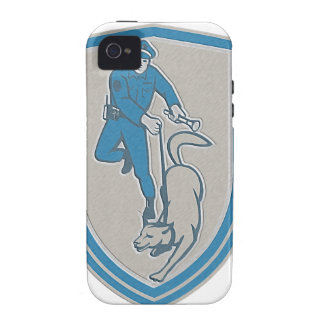 Metallic Policeman With Police Dog Canine Crest Re Vibe iPhone 4 Case