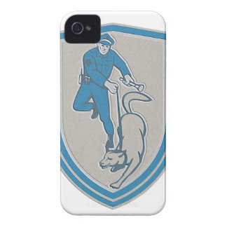 Metallic Policeman With Police Dog Canine Crest Re iPhone 4 Cases