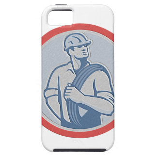 Metallic Power Lineman Wire Cable Circle Retro iPhone 5 Covers