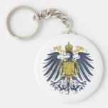 Metallic Preussian Eagle Basic Round Button Keychain