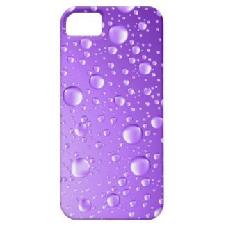 Metallic Purple Abstract Rain Drops iPhone 5 Cases