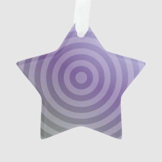 Metallic purple concentric circles
