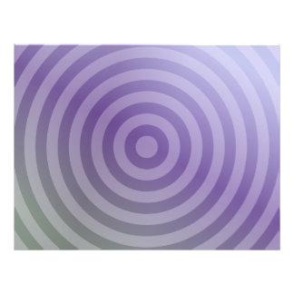 Metallic purple concentric circles flyer