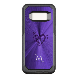 Metallic Purple Music Heart Galaxy S8 Case