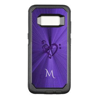 Metallic Purple Music Heart OtterBox Commuter Samsung Galaxy S8 Case