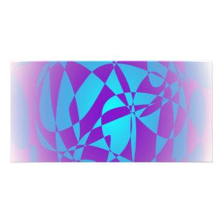 Metallic Purple Customized Photo Card
