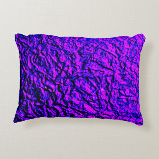 Metallic Purple, Pink and Blue Wrinkled Accent Pillow