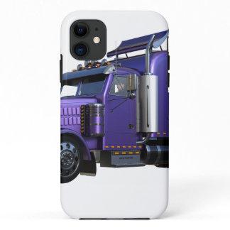 Metallic Purple Semi Tractor Trailer Truck iPhone 11 Case