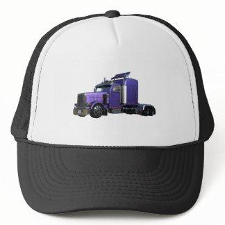 Metallic Purple Semi Tractor Trailer Truck Trucker Hat