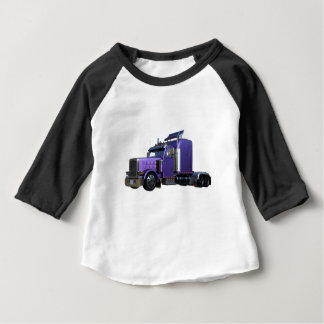 Metallic Purple Semi Truck In Three Quarter View Baby T-Shirt