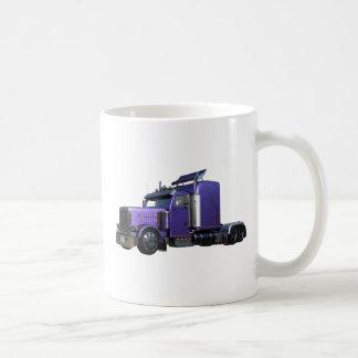 Metallic Purple Semi Truck In Three Quarter View Coffee Mug