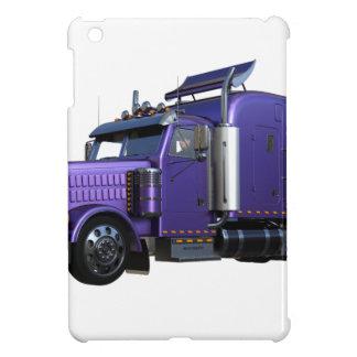 Metallic Purple Semi Truck In Three Quarter View iPad Mini Cases