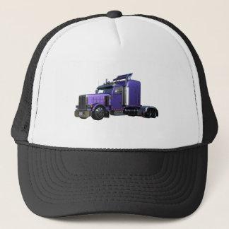 Metallic Purple Semi Truck In Three Quarter View Trucker Hat