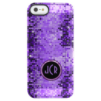 Metallic Purple Sequence Look Disco Mirrors Uncommon Clearly™ Deflector iPhone 5 Case