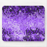 Metallic Purple Sequins Look Disco Mirrors Bling Mouse Pad